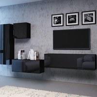 TV komoda VIVO VI 2 120 cm, černá 4