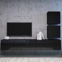 TV komoda VIVO VI 2 120 cm, černá 5
