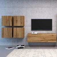 TV komoda VIVO VI 2 120 cm, dub wotan 2