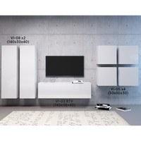 TV komoda VIVO VI 3 140 cm, bílá vysoký lesk 2