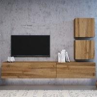 TV komoda VIVO VI 4 LED 180 cm, dub wotan 4
