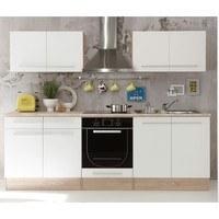 Kuchyňská linka WELCOME X 240 cm, dub sonoma/bílá matná 1