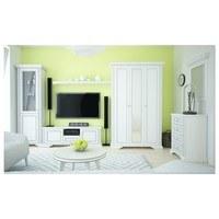 TV stolek WHITE dekor sněžný jasan/šedá 2