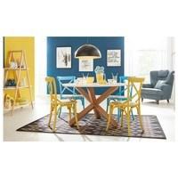 Jedálenská stolička XABI žltá 2