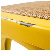 Jedálenská stolička XABI žltá 4