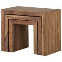 Přístavné stolky YOGA palisandr, 3 ks 3
