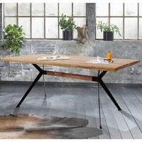 Jídelní stůl  YOGA přírodní palisandr/černá 2