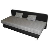 Váľanda ZLATKA čierna/sivá, 80x190 cm 1