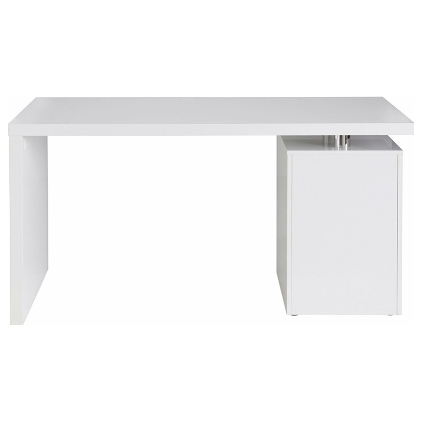 Sconto Písací stôl 6259 biela/vysoký lesk Dizajnový písací stôl 6259 s úložným priestorom.