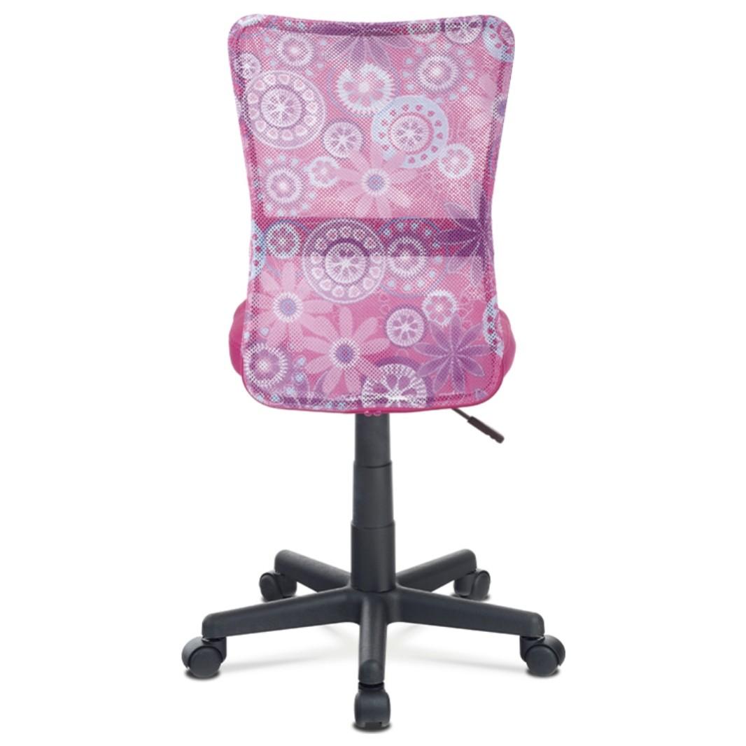 Sconto Kancelárska stolička BAMBI ružová s motívom Moderná otočná stolička.