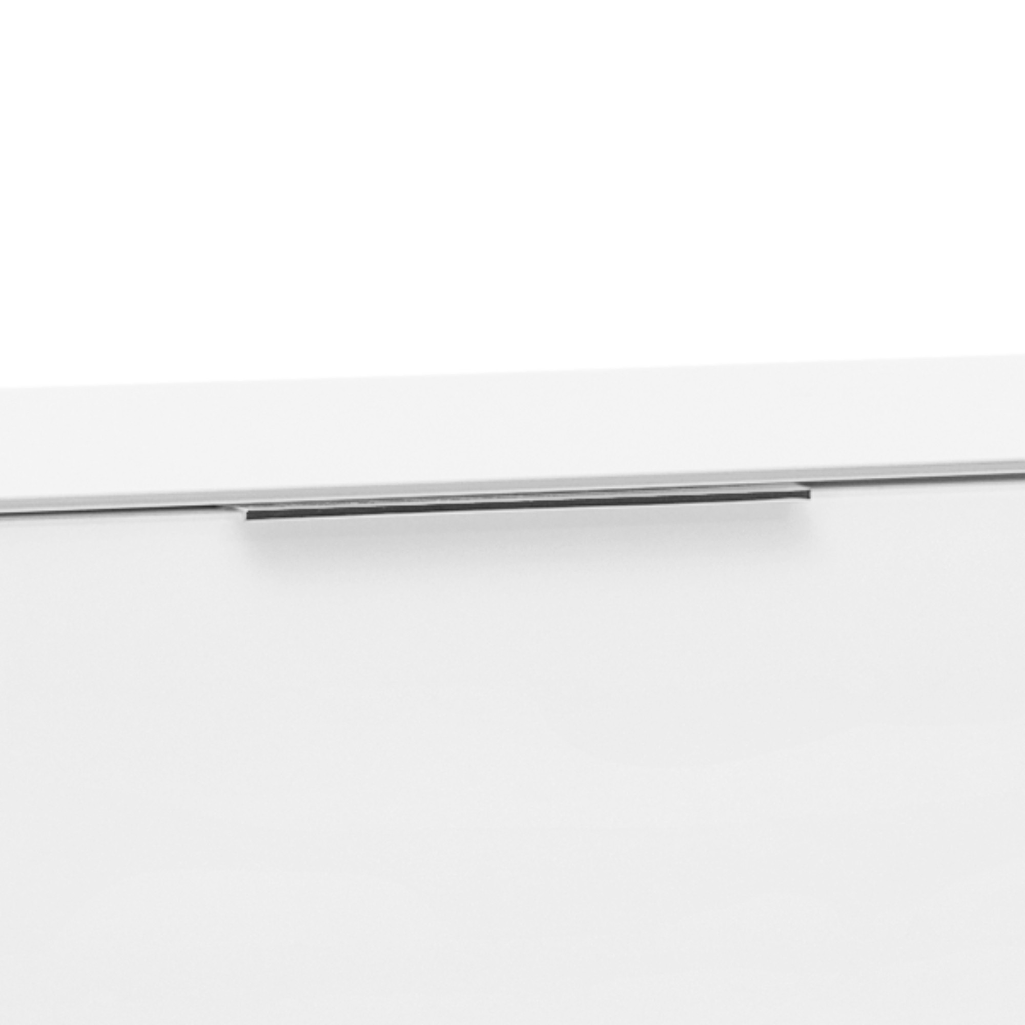 Sconto TV stolík BENTLEY biela matná/biele sklo, hĺbka 45 cm.