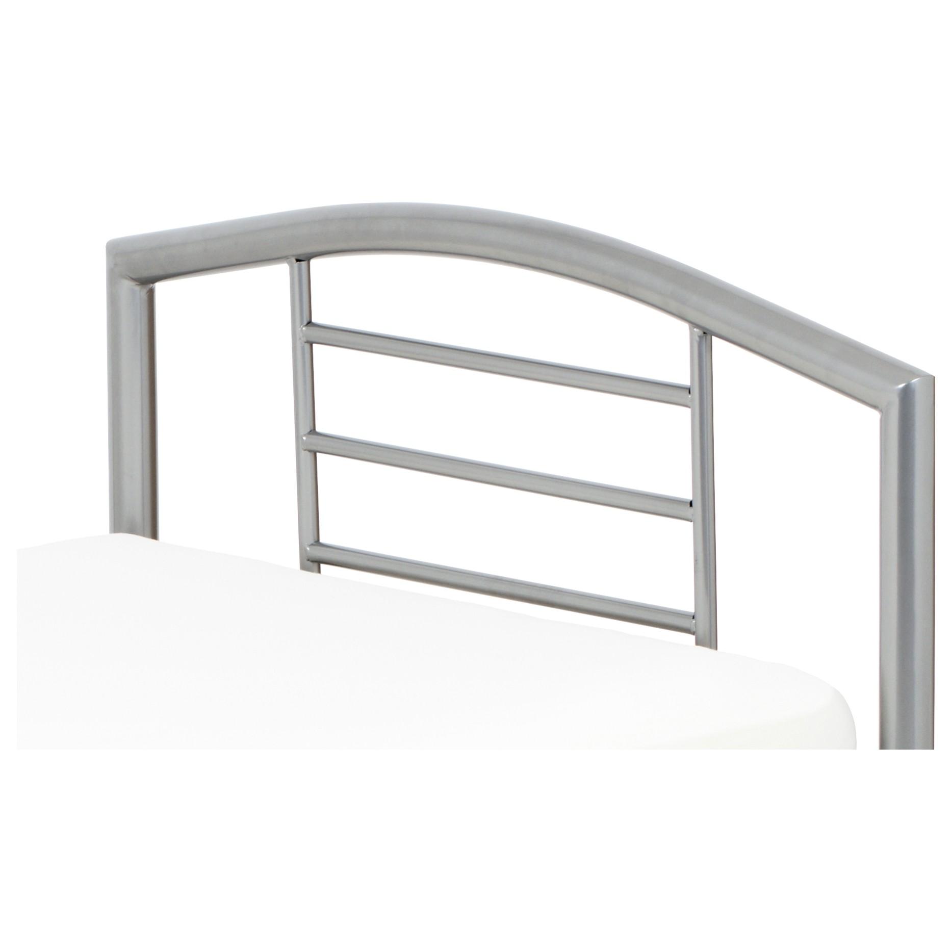 Sconto Posteľ CORTINA sivá, 90x200 cm Jednolôžková posteľ CORTINA je tvorená stabilným kovovým rámom s odolným lakovaným povrchom.