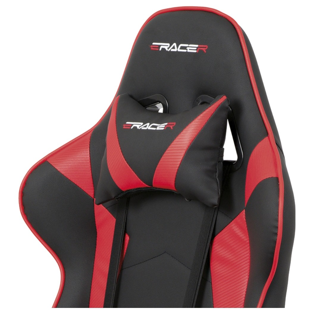 Sconto Kancelárske kreslo DANIEL čierna/červená Otočná stolička DANIEL s ortopedickým tvarovaním.