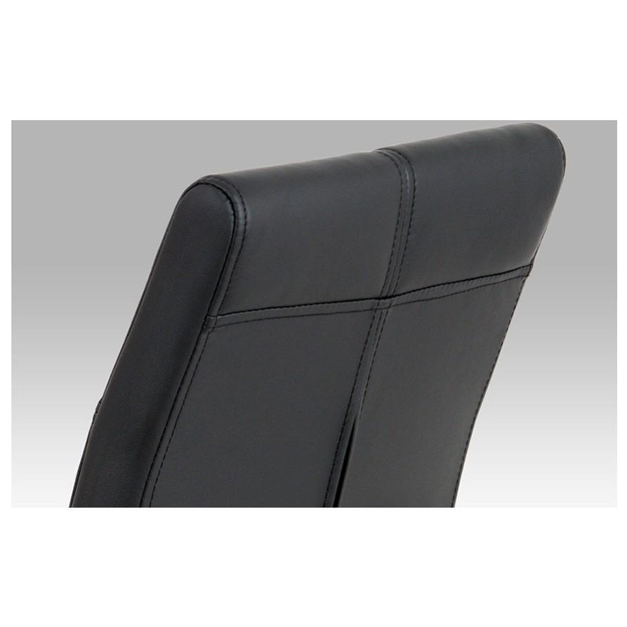 Sconto Jedálenská stolička DONNA čierna Praktická jedálenská stolička s kovovou konštrukciou.