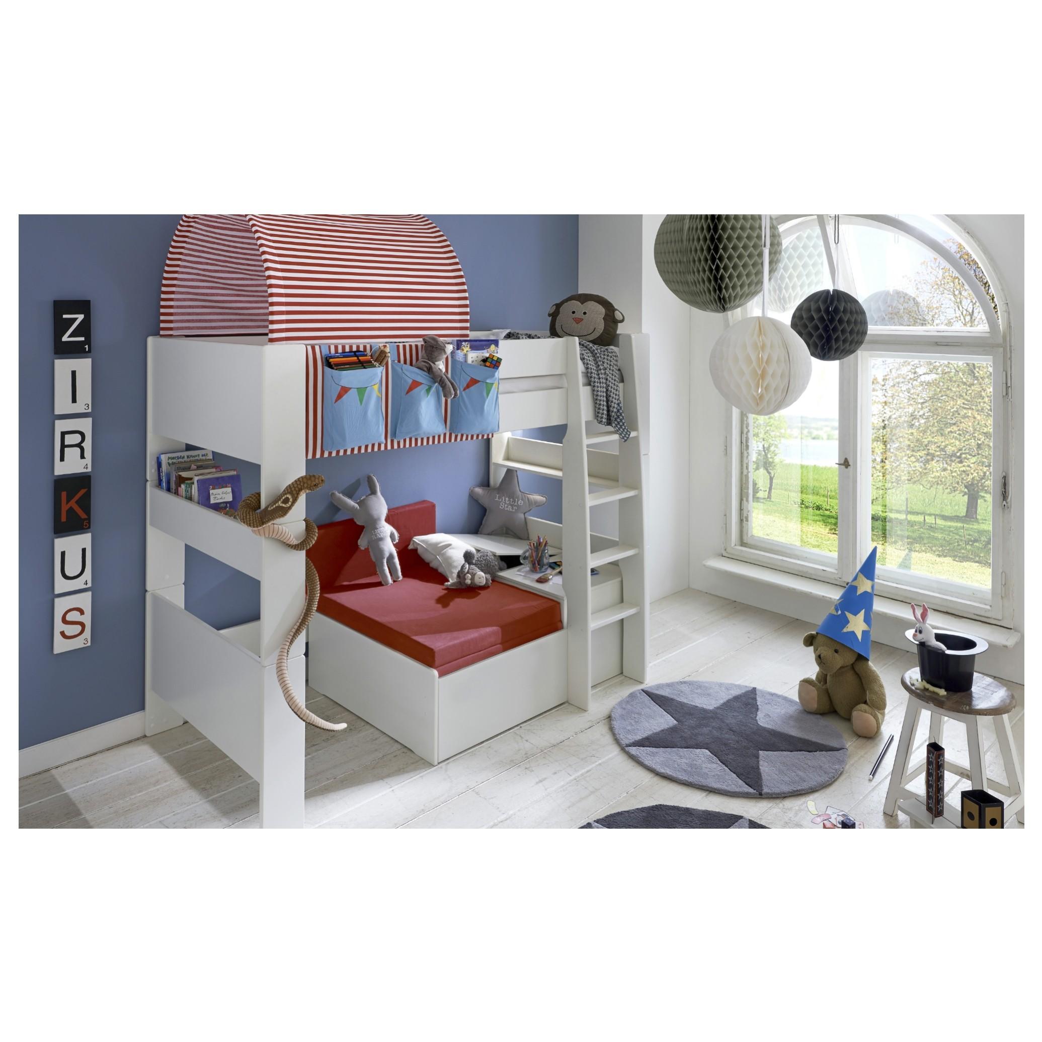 Sconto Rozkladacia posteľ s perinákom FOR KIDS 631 biela, 75x180 cm Cez deň miesto na relaxáciu, v noci lôžko s rozmerom 75 x180 cm.