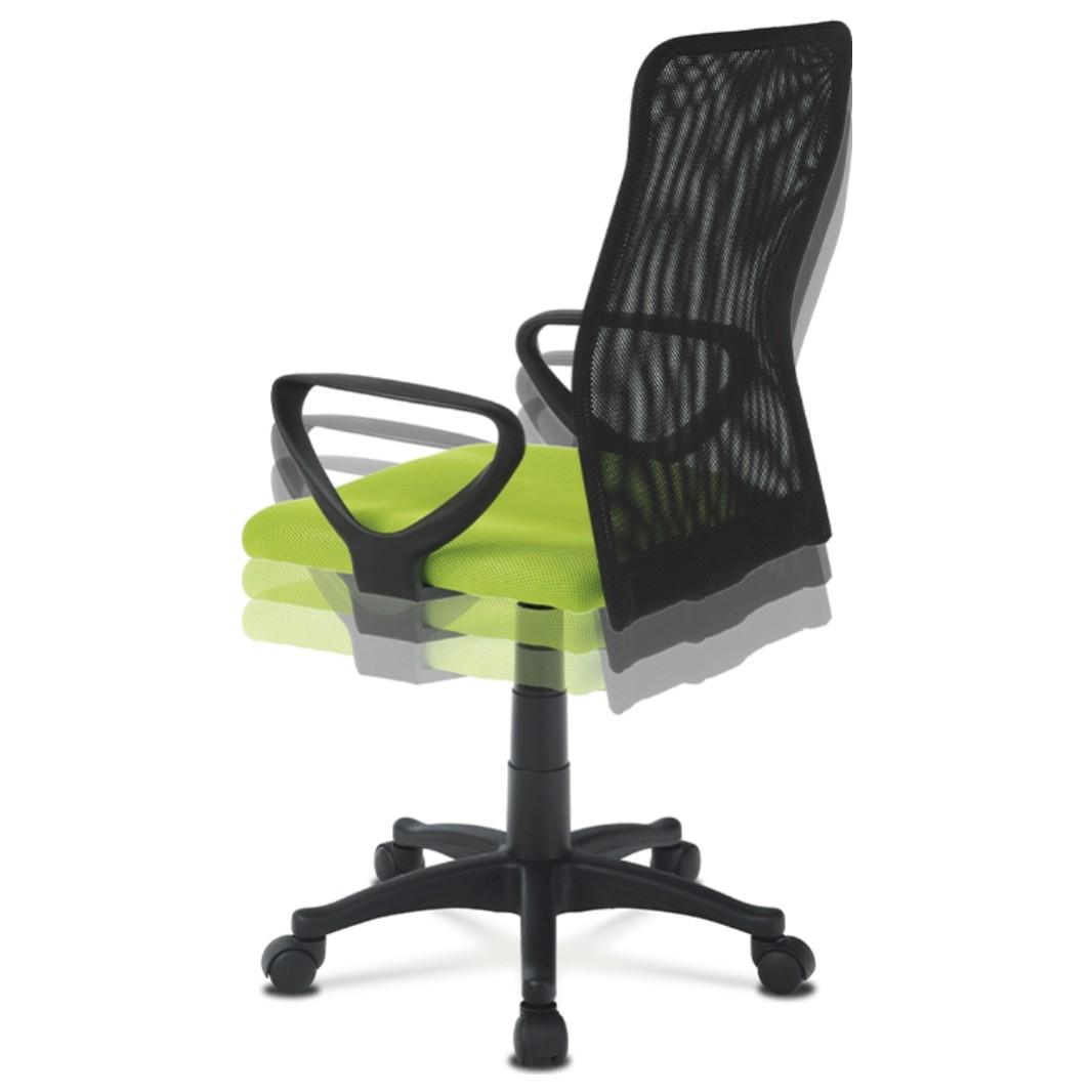 Sconto Kancelárska stolička FRESH zelená/čierna Moderná otočná stolička FRESH.