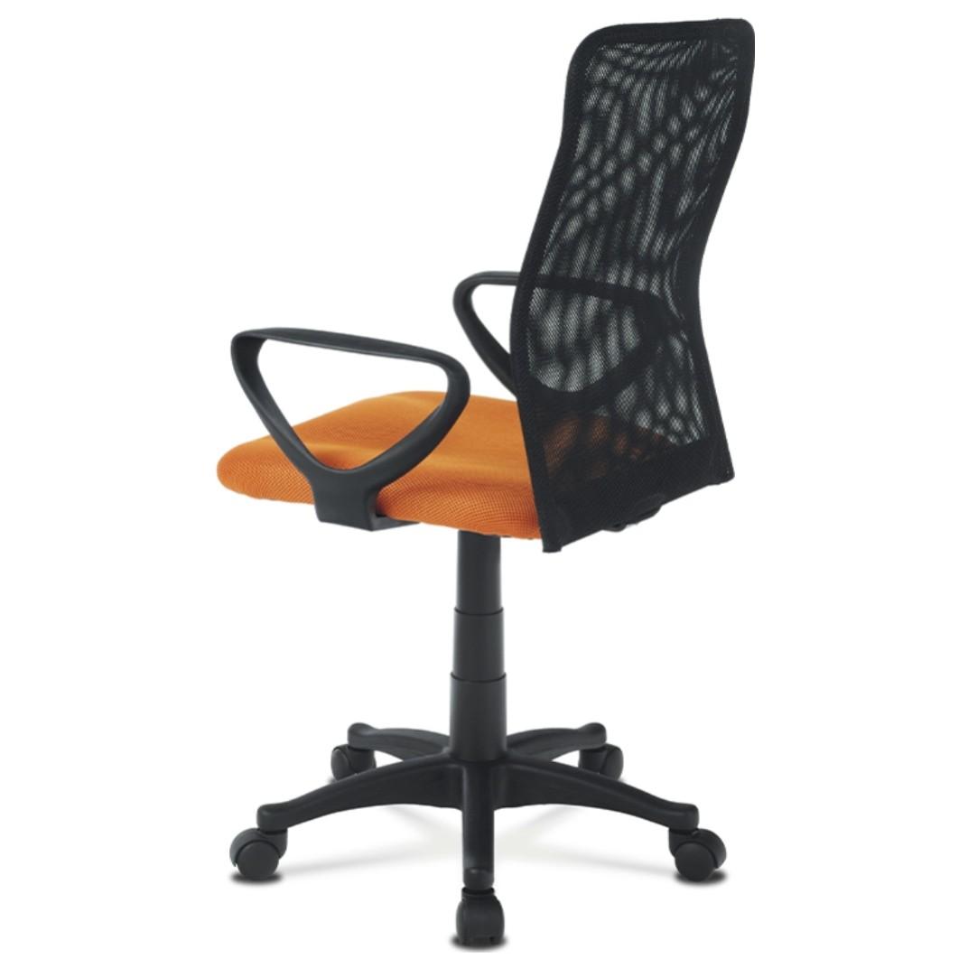 Sconto Kancelárska stolička FRESH oranžová/čierna Moderná otočná stolička FRESH.