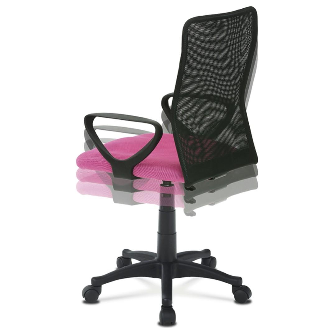 Sconto Kancelárska stolička FRESH ružová/čierna Moderná otočná stolička FRESH.