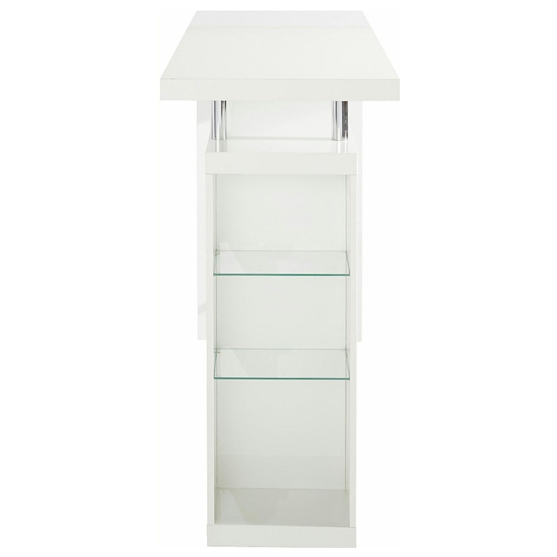 Sconto Barový stôl GLAWI biela Moderný barový stôl GLAWI v minimalistickom dizajne.
