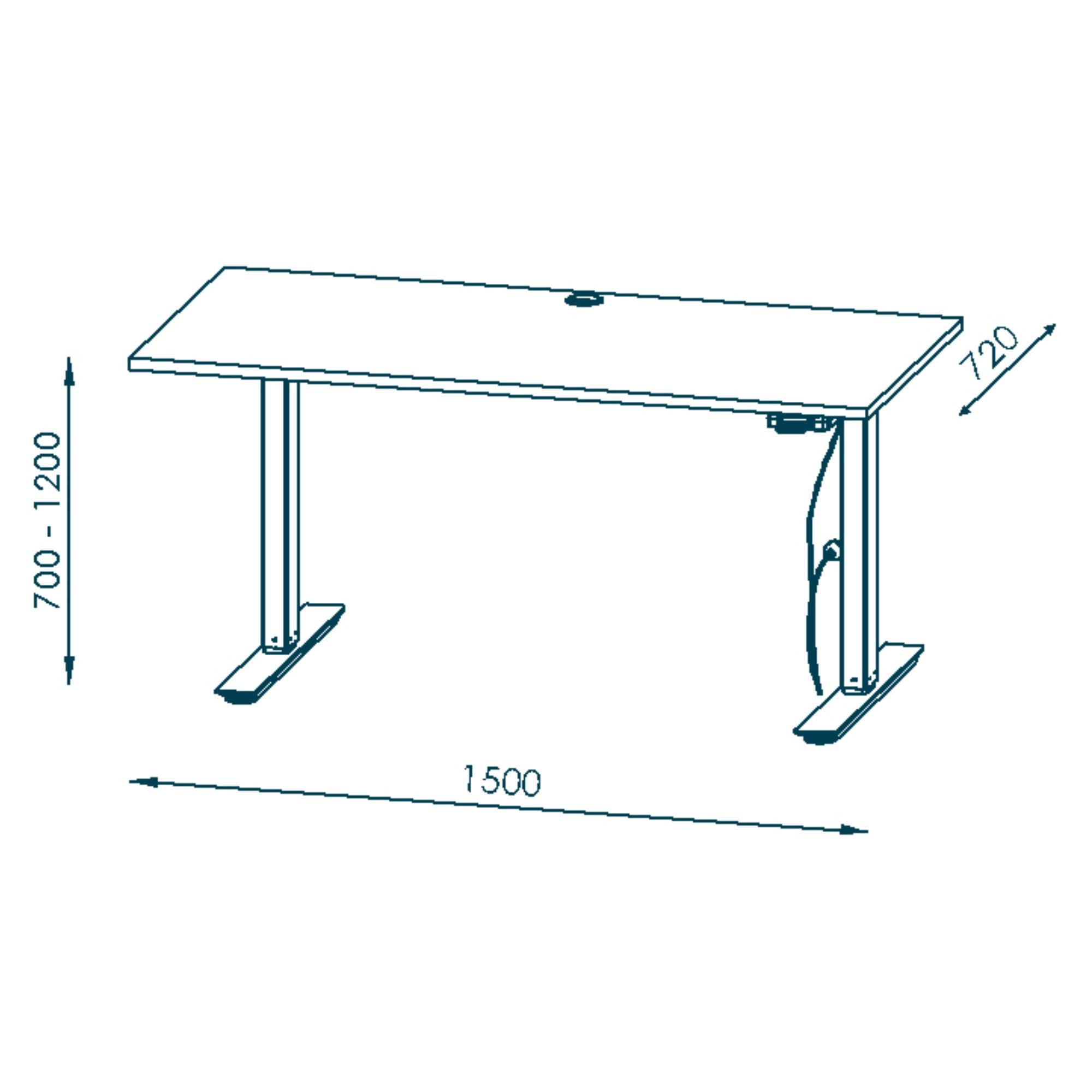 Sconto Písací stôl HOKO antracitová.