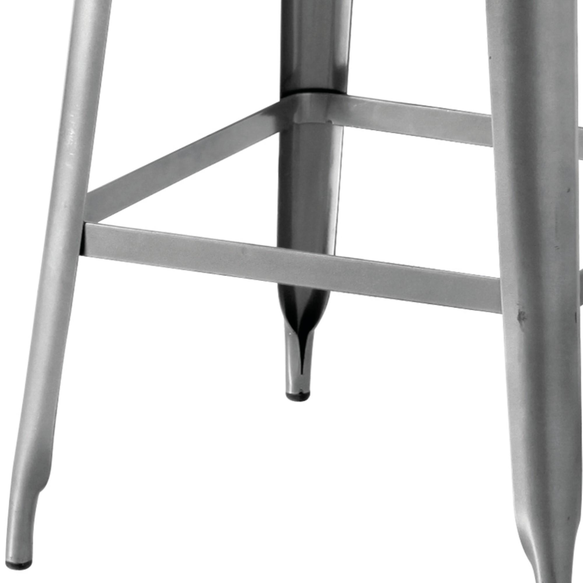 Sconto Barová stolička IRON železo almond/hnedý kožený poťah.