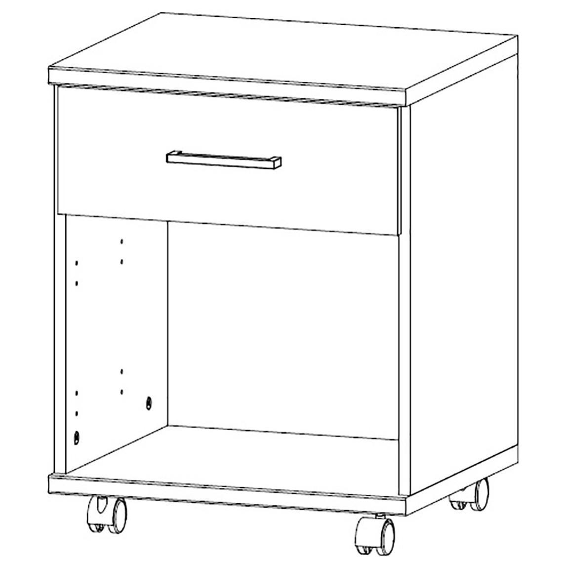 Sconto Pojazdný kontajner JOKER 513 biela/grafit Moderný praktický pojazdný kontajner.