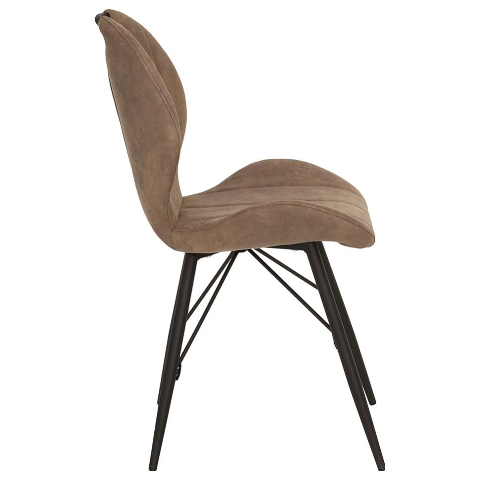Sconto Stolička KATE S hnedá Jedálenská stolička KATE S žiari vintage štýlom, ktorý zaujme na prvý pohľad.