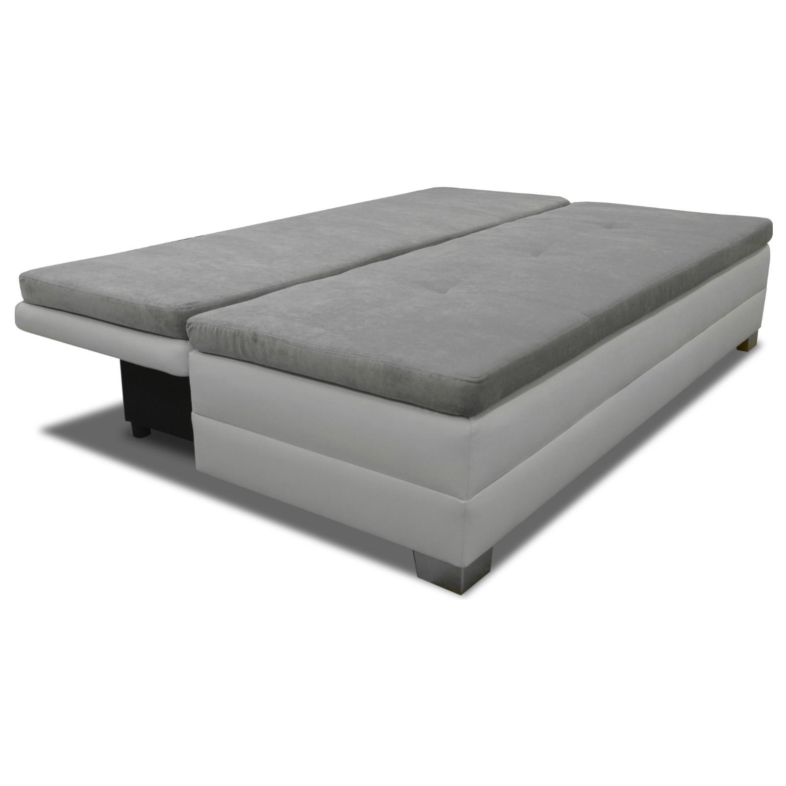 Sconto Pohovka NUKA sivá Praktická pohovka, ktorú môžete ľahko rozložiť na lôžko určené na občasné prespanie.