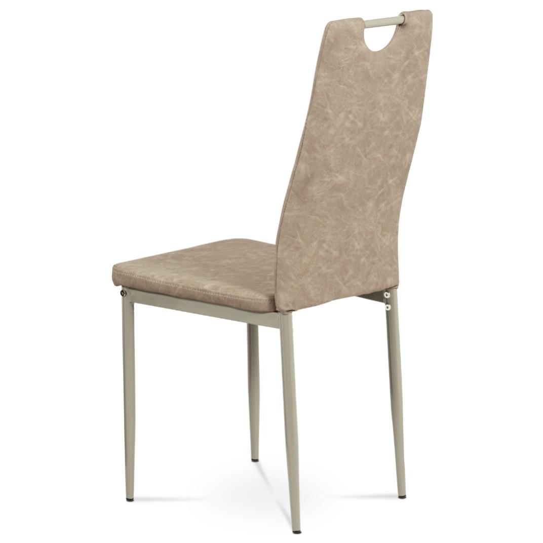 Sconto Jedálenská stolička OLINA hnedá/béžová.