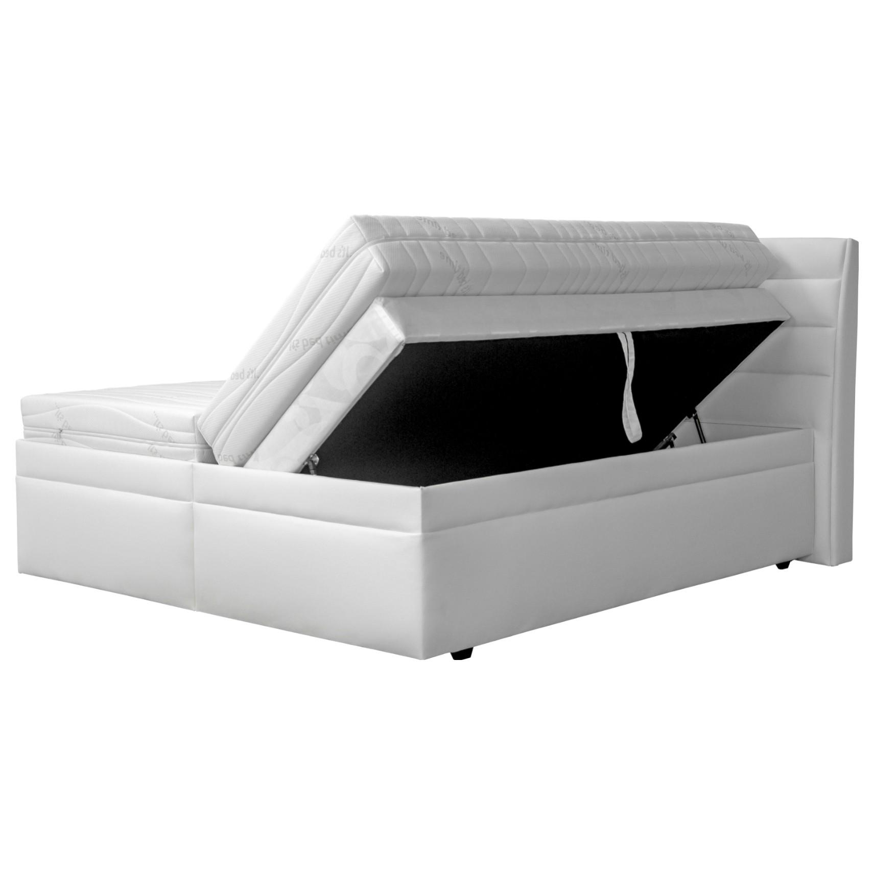 Sconto Posteľ boxspring OLYMPIE 160x200 cm Táto moderná a praktická posteľ typu boxspring obsahuje všetko potrebné pre váš spánok.