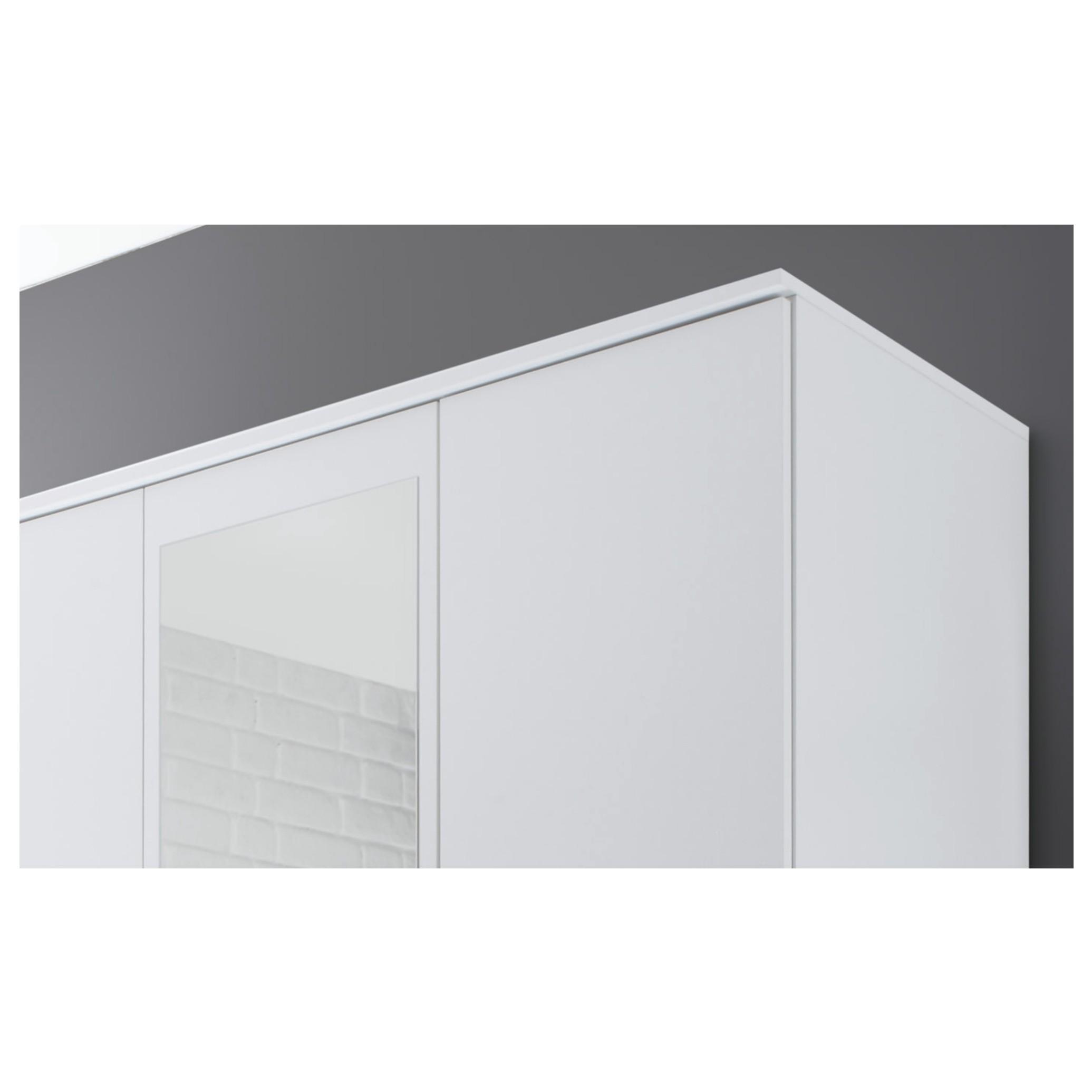 Sconto Šatníková skriňa OTMAR biela Praktická šatníková skriňa OTMAR v modernom dizajne sa vďaka svojim rozmerom hodí aj do menších spální.