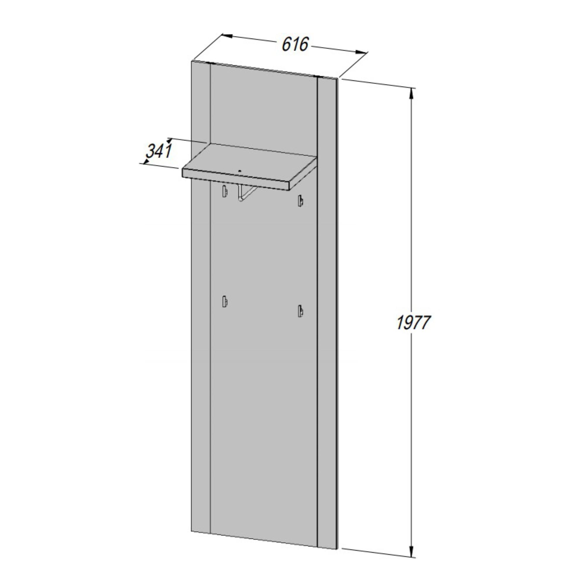 Sconto Predsieňový panel PORTLAND dub pieskový Predsieňový panel PORTLAND svoj minimalistický dizajn dopĺňa výraznou kresbou dreva.