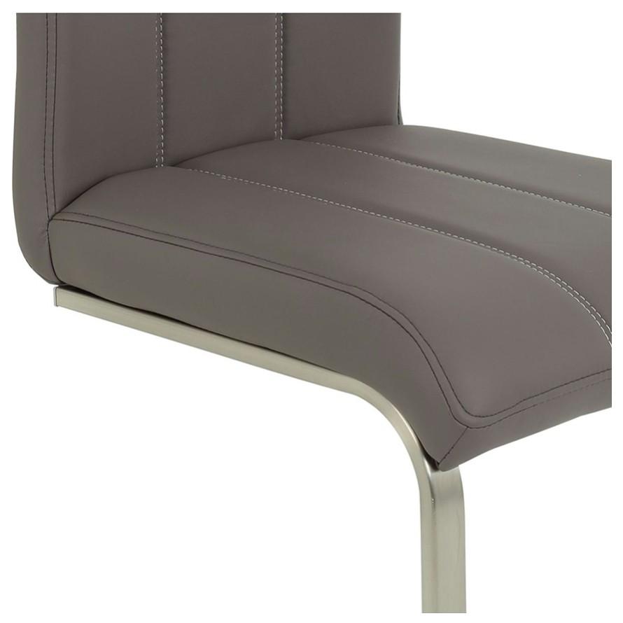 Sconto Jedálenská stolička ROSALIE sivá Moderná elegantná jedálenská stolička.