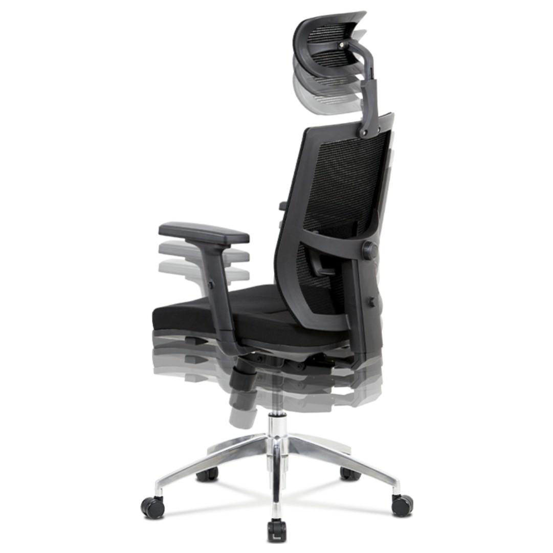 Sconto Kancelárska stolička STUART čierna Pohodlné kancelárske kreslo.