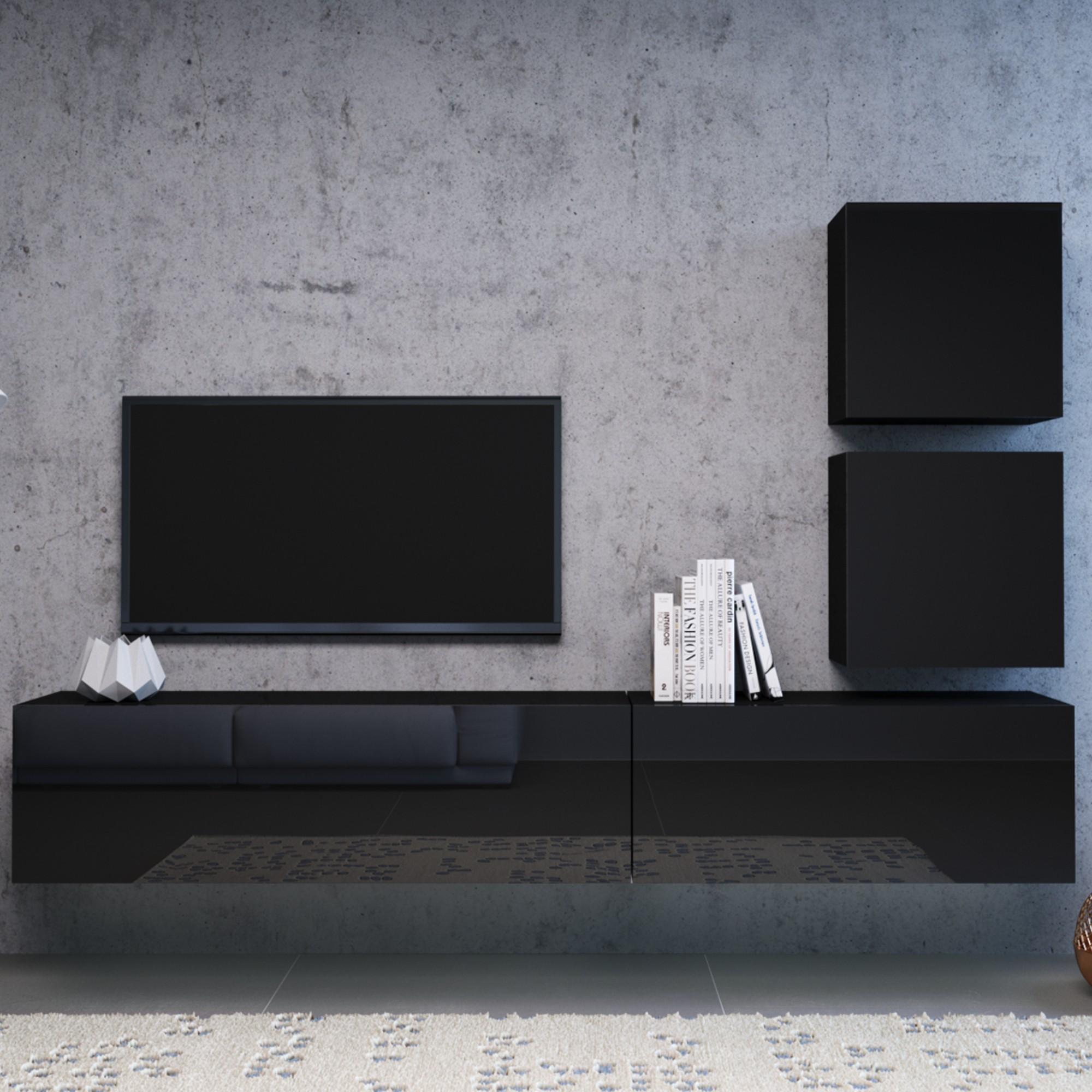 Sconto TV komoda VIVO VI 2 120 cm, čierna.