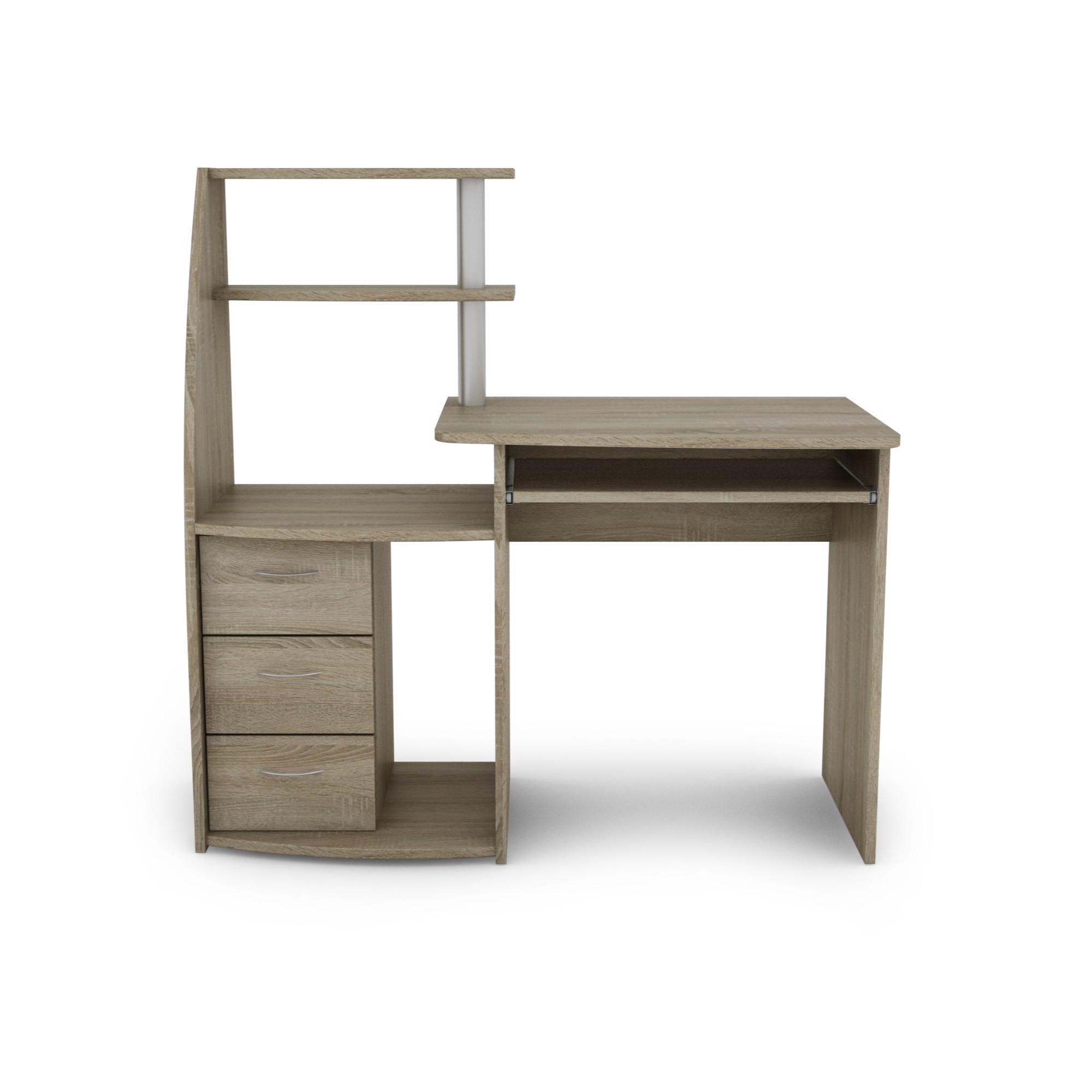 Sconto PC stôl WIKING dub sonoma Praktický PC stôl WIKING s dostatkom úložného priestoru.