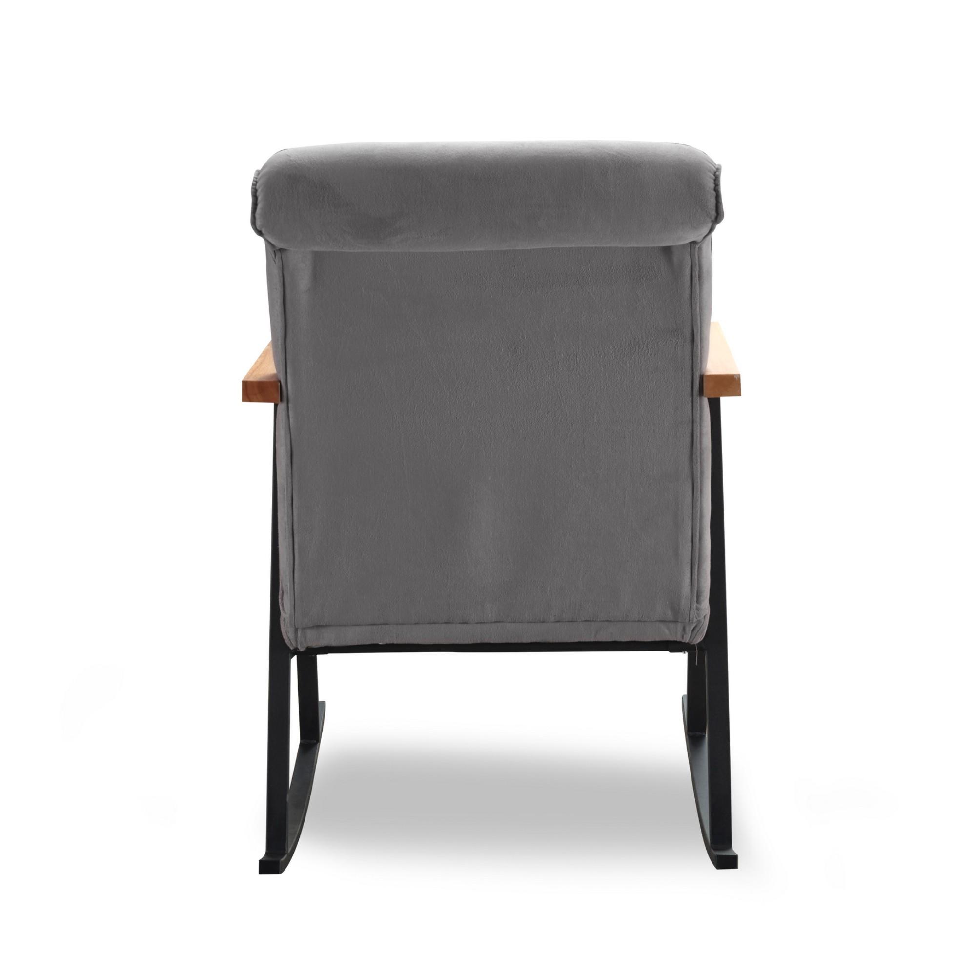 Sconto Křeslo YOKA šedá Klasika obýváků i ložnic po několik generací v moderním kabátu, takové je houpací křeslo YOKA.